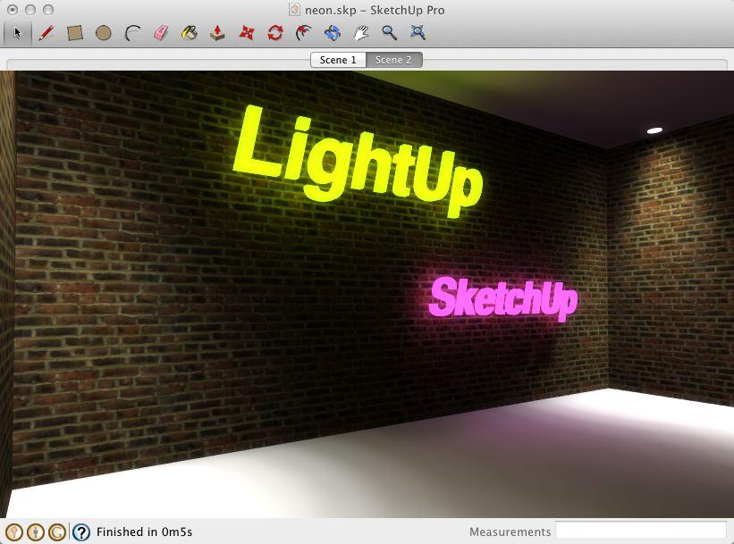 Neon glowing lights & Neon glowing lights u2022 sketchUcation u2022 1