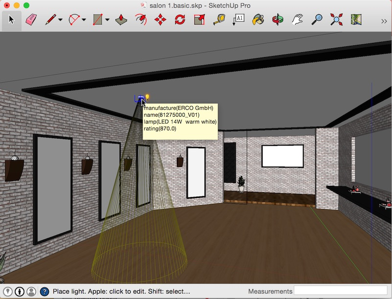 how to add lighting to sketchup
